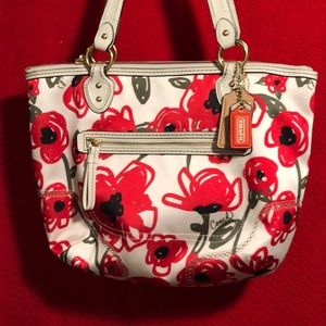 Coach Poppy Fabric Tote